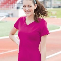 1790 Ladies' V-Neck Wicking T-Shirt Thumbnail